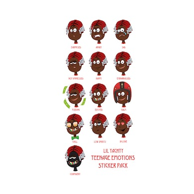 Lil Yachty Teenage Emotions Sticker Pack