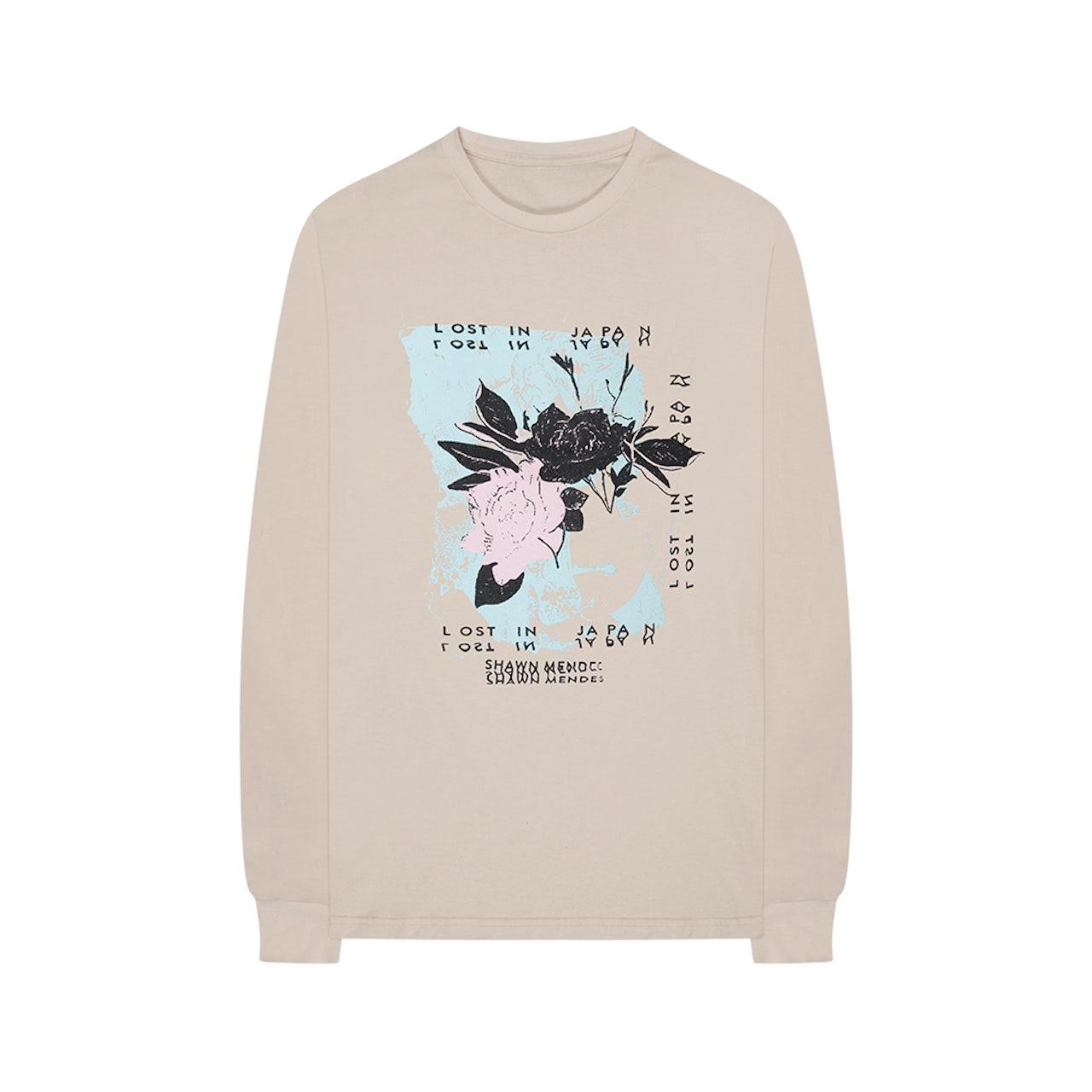 1b396b43a Shawn Mendes Floral Long Sleeve T-Shirt + Album