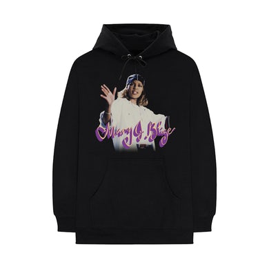 Mary J. Blige What's the 411? Remix Script Logo Pullover Hoodie