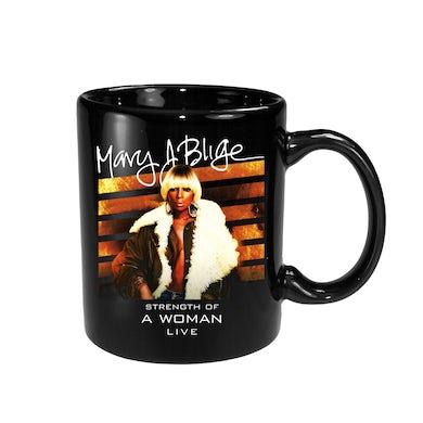 Mary J. Blige Backdrop Black Mug