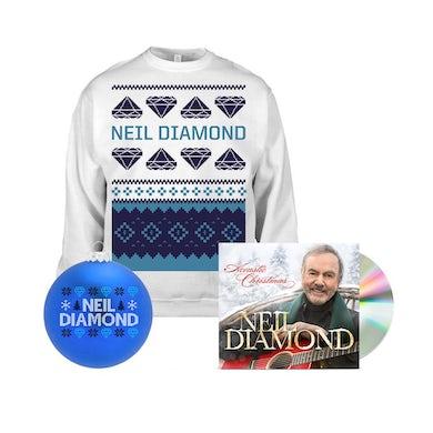 Neil Diamond Holiday Sweatshirt + CD + Holiday Ornament