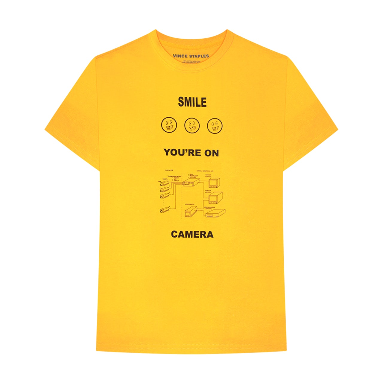 Vince Staples SMILE YOU'RE ON CAMERA T-SHIRT