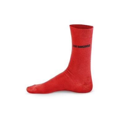 YG Red Tube Socks