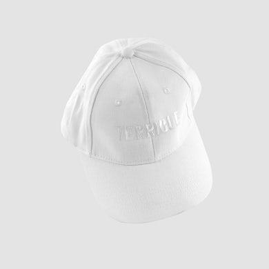 Terrible Records Logo Hat (White on White)