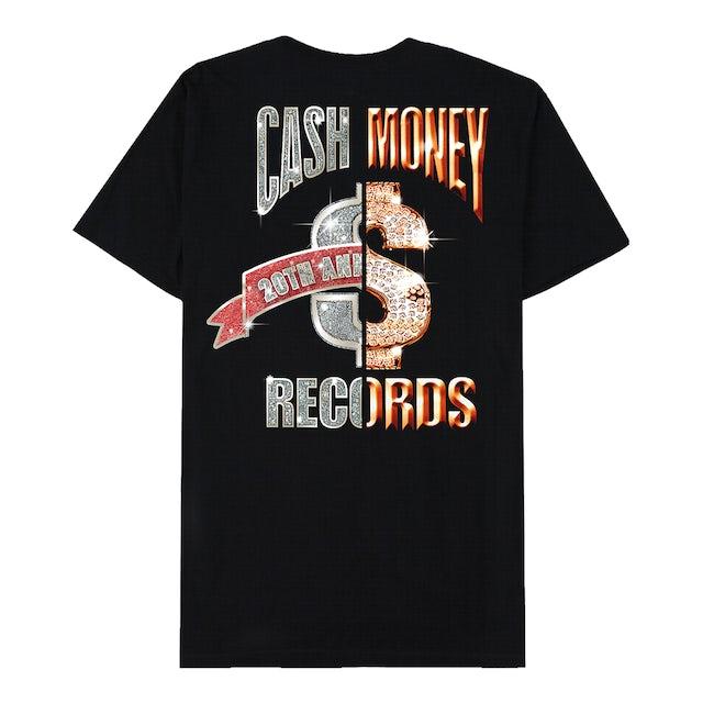 Cash Money Records Cash Money Split Logo Black T-Shirt