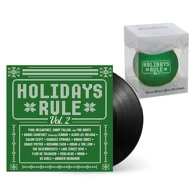 Holidays Rule Vinyl + Ornament