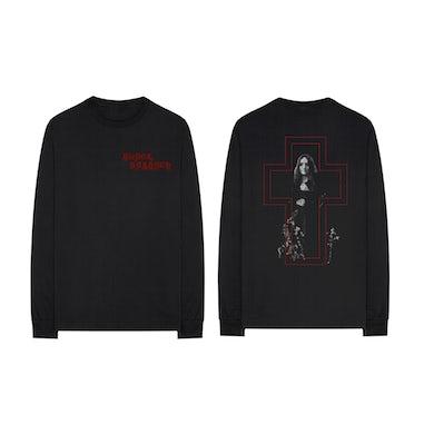Black Sabbath Self-Titled Album Cross Long Sleeve Shirt