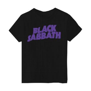 Black Sabbath Purple Logo Kids T-Shirt