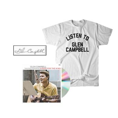 Glen Campbell Glen Sings For The King CD + Tee + Enamel Pin