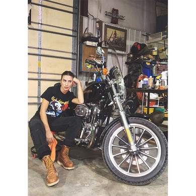 Kassi Ashton Black Motorcycle T-Shirt