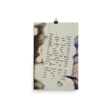 "Kassi Ashton ""That Wonder"" Poem Poster"