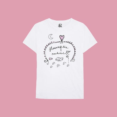 Florence and The Machine WHITE DOODLE TEE