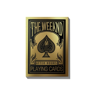 The Weeknd AFTER HOURS PLAYING CARDS + DIGITAL ALBUM