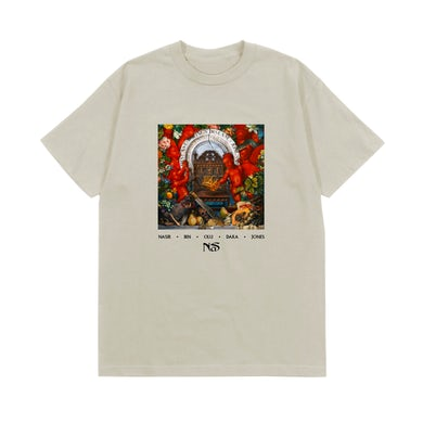 Nas KING'S DISEASE CREAM ALBUM COVER T-SHIRT