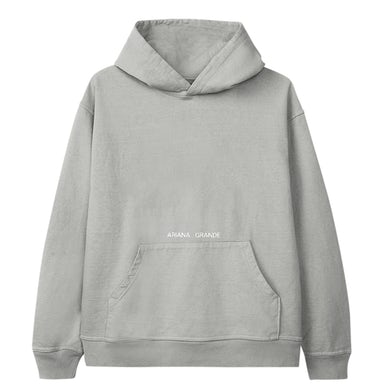 Ariana Grande positions inverted cover hoodie
