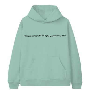 Ariana Grande positions mint hoodie