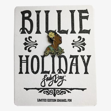 Billie Holiday - Enamel Pin with Hand-Printed Backing Card