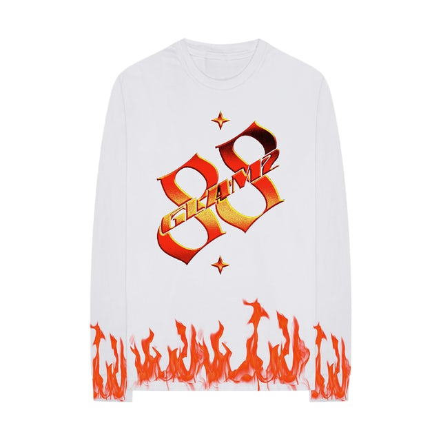 88GLAM FLAMES L/S T-SHIRT