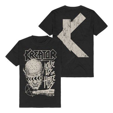 Kreator Love Us Or Hate Us T-Shirt - Black