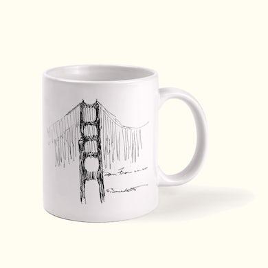 Tony Bennett Golden Gate Bridge Sketch Mug