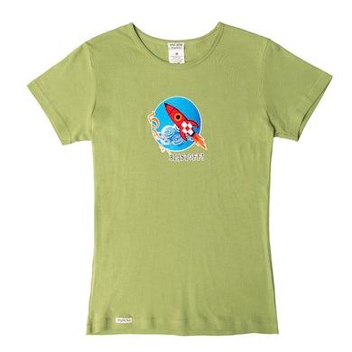 Laurie Berkner Blast Off! Ladies T-Shirt (Green)
