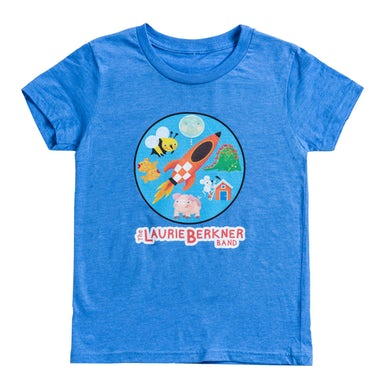 Laurie Berkner Rocket Youth T-Shirt (Blue)