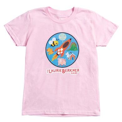 Laurie Berkner Rocket Youth T-Shirt (Pink)