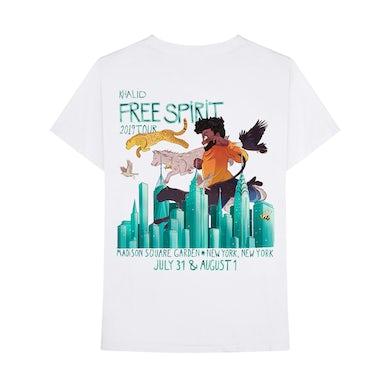Khalid FREE SPIRIT TOUR NYC EXCLUSIVE T-SHIRT