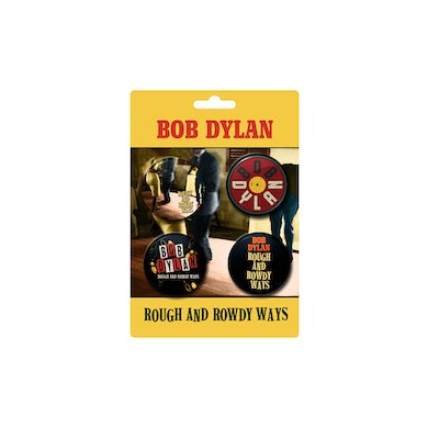 Bob Dylan Rough and Rowdy Ways Button Set