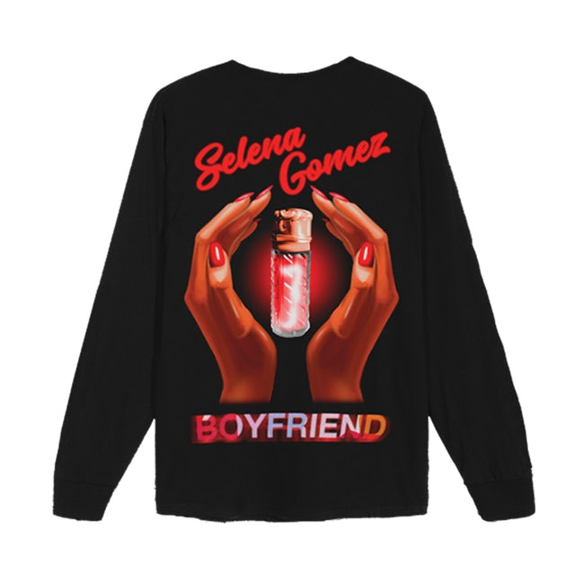 Selena Gomez Perfume Bottle Black Long Sleeve