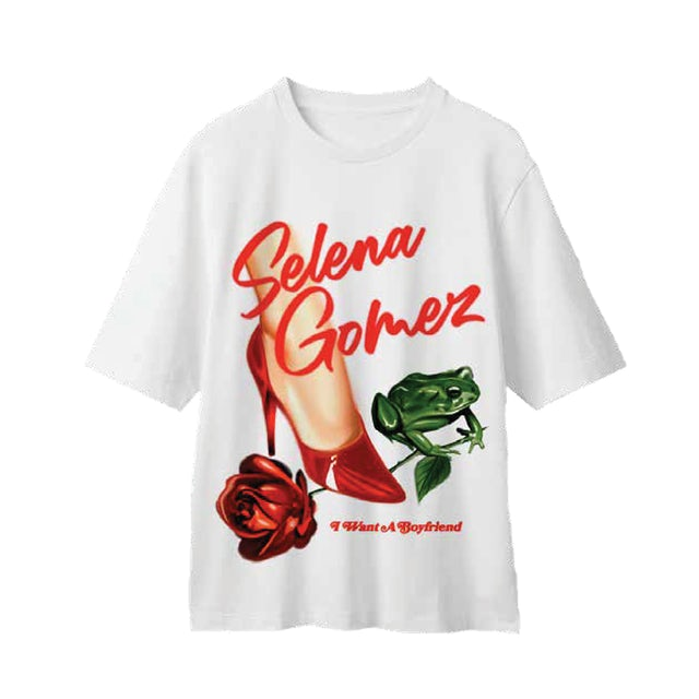 Selena Gomez Stiletto White T-Shirt