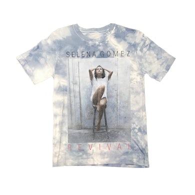 Selena Gomez Cloudy Tie Dye Photo T-Shirt