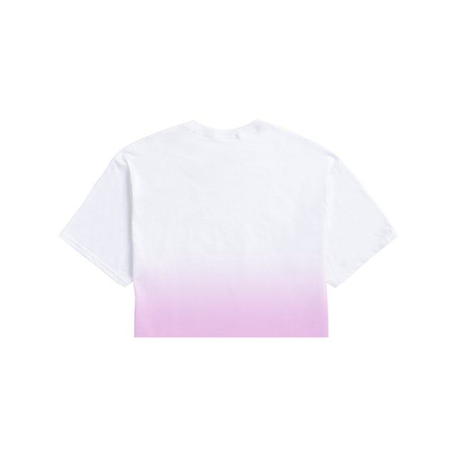 Taylor Swift Album Cover Crop Tee (Pink and White Color Fade)
