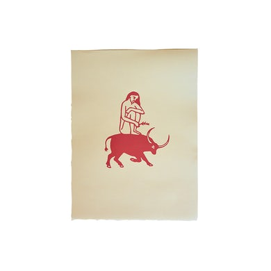 Madre Mezcal Toro Y Mujer Print