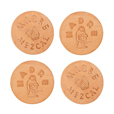 Madre Mezcal Madre Natural Leather Coasters