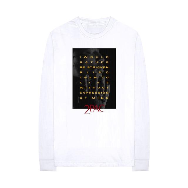 Tupac Expression of Mind Longsleeve T-shirt (White)