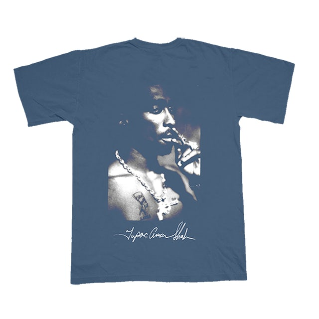 Tupac Panther Indigo T-Shirt