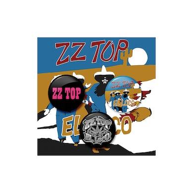 ZZ Top El Loco Button Set