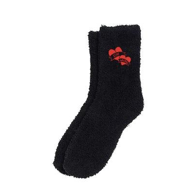 YUNGBLUD Stay Weird! Black Fuzzy Socks