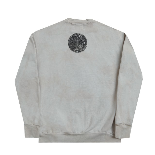 Bob Marley Washed Printed Crew Lion Sweatshirt