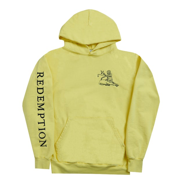 Bob Marley Yellow Redemption Lion Pullover Hoodie