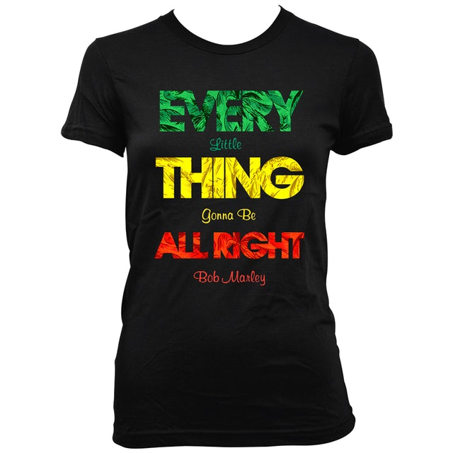 Bob Marley Every Little Thing Ladies T-Shirt