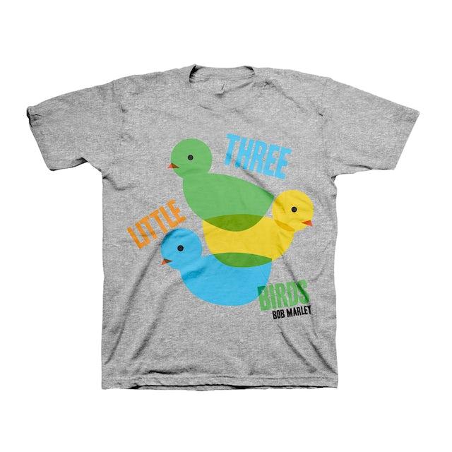 Bob Marley Three Little Birds Grey Kids T-Shirt