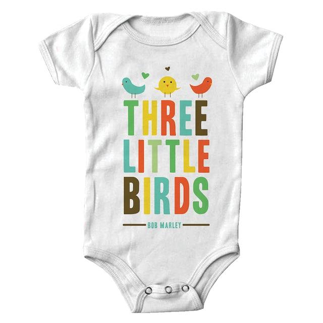 Bob Marley Three Little Birds Heart Onesie