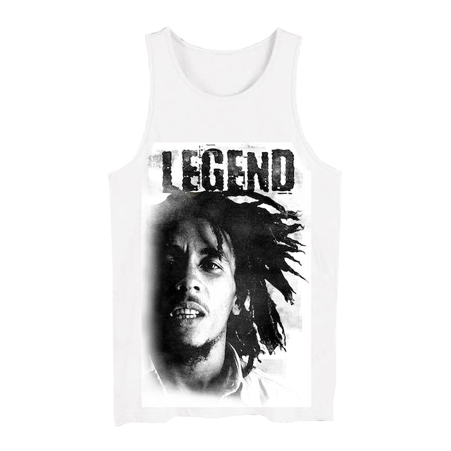 Bob Marley Legend Face On Tank Top