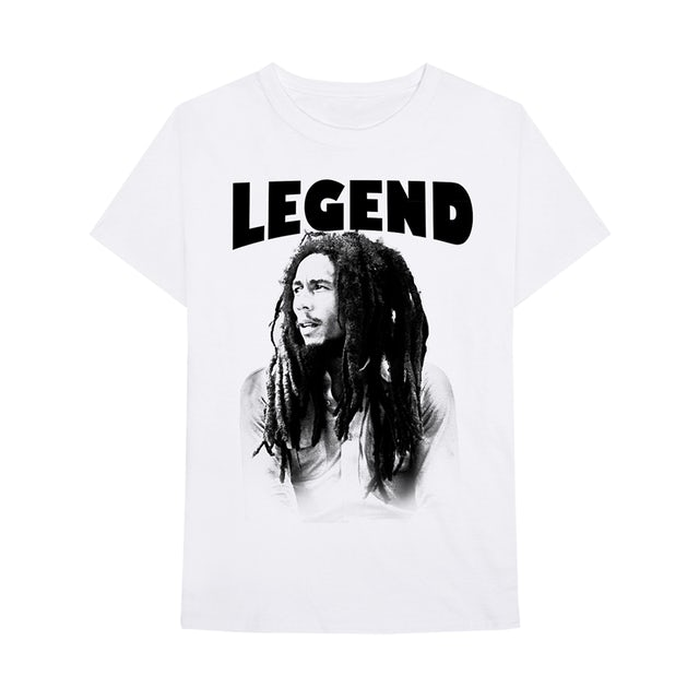 Bob Marley Legend Profile White T-Shirt