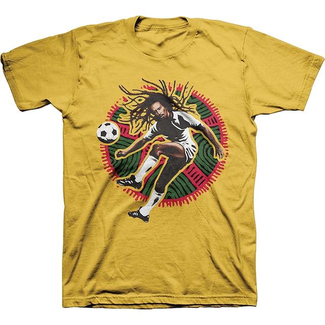 Bob Marley Kick Yellow T-Shirt