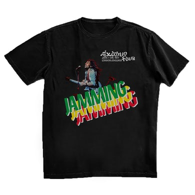 Bob Marley Jammin' in London Black T-Shirt