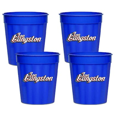 Jon Langston Stadium Cups - Blue Plastic (Set of 4)