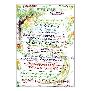 Hyde Park Lithograph 1st Show